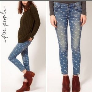 Free People Floral Ditzy Jeans